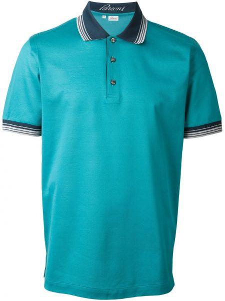 Зеленая хлопковая футболка Brioni