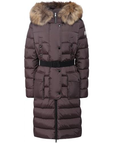 Куртка с капюшоном с мехом с енотом Moncler