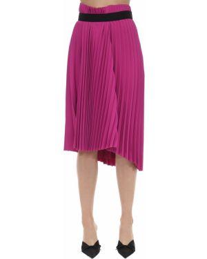 Плиссированная юбка асимметричная с поясом Balenciaga