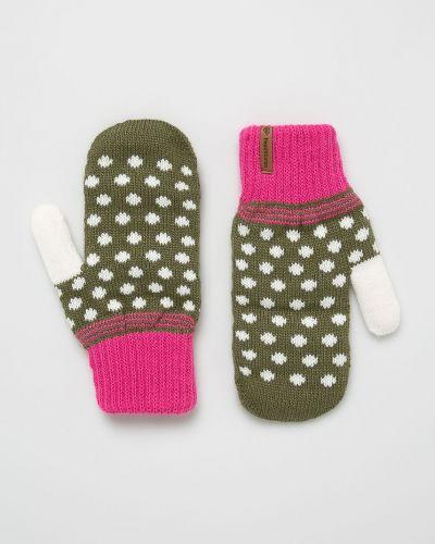 Перчатки текстильные зеленый Femi Stories
