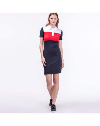 Платье с принтом яркое Lacoste