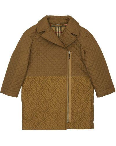 Nylon pikowana beżowy płaszcz Burberry