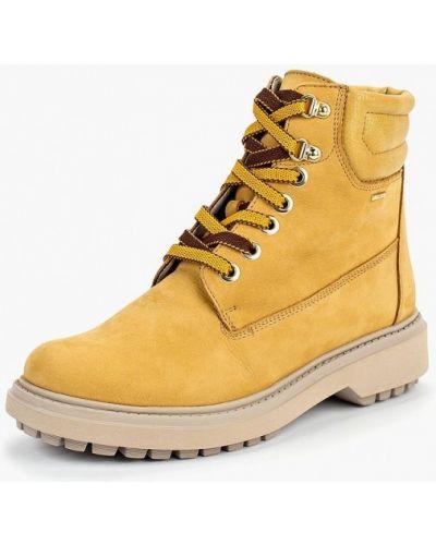 Ботинки на каблуке кожаные Geox