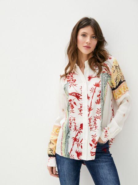 Блузка с длинным рукавом белая весенний Desigual