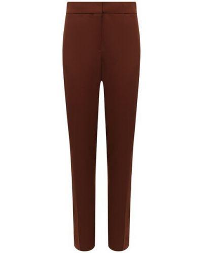 Коричневые брюки стрейч из габардина Oscar De La Renta