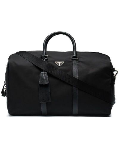 Дорожная сумка кожаная на плечо Prada