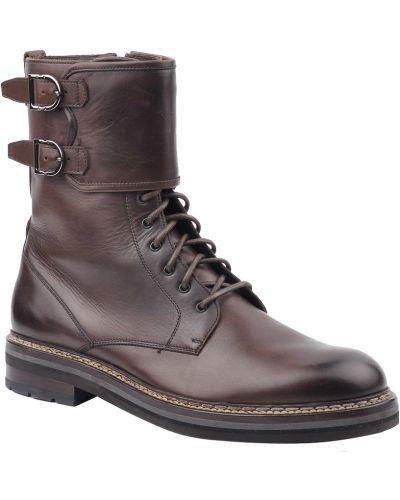Ботинки осенние кожаные Ermenegildo Zegna