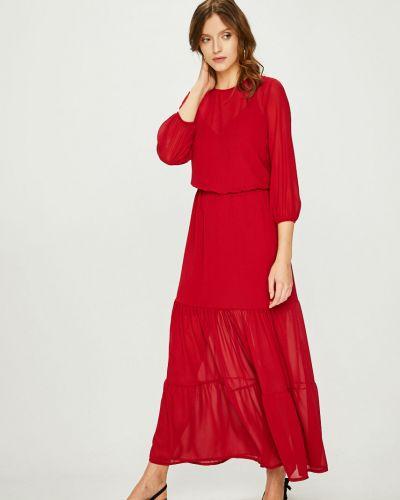Платье макси с вырезом расклешенное Answear