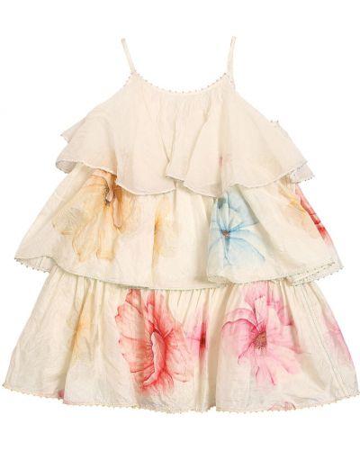 Белое деловое платье на бретелях без рукавов Péro
