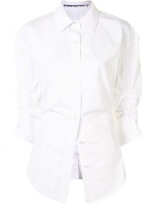 Z rękawami biały klasyczny klasyczna koszula z kołnierzem Alexander Wang