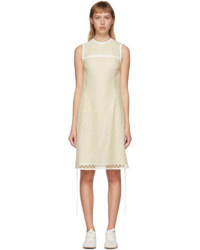 Платье мини с кружевными рукавами с рукавами Loewe