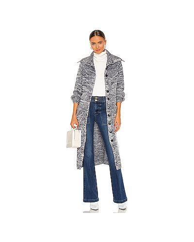 Шерстяной длинный свитер с завязками с карманами Frame