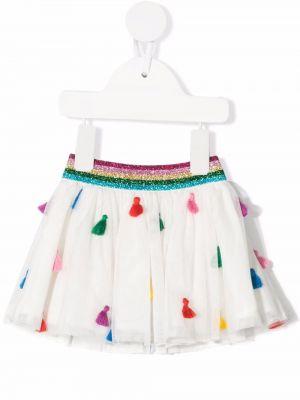 Biała spódnica z frędzlami Stella Mccartney Kids