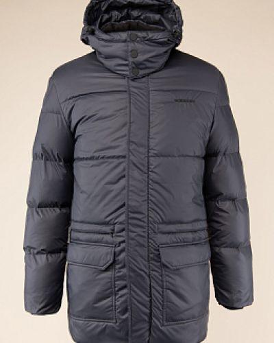 Текстильная синяя куртка с воротником Normann