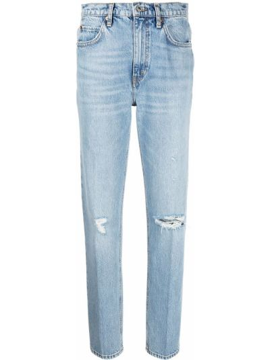 Bawełna bawełna niebieski klasyczny jeansy z kieszeniami Re/done