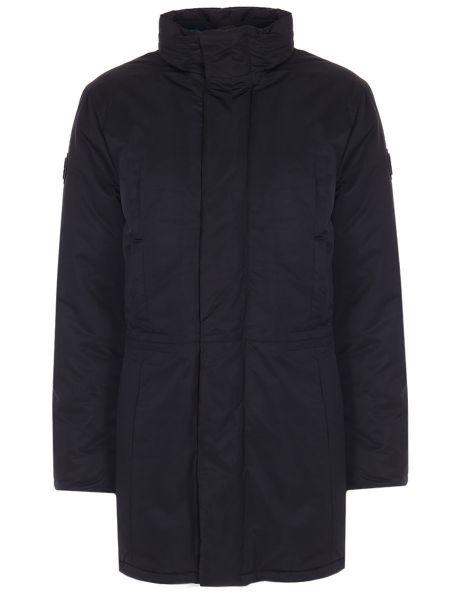 Прямая черная длинная куртка на молнии с карманами Dirk Bikkembergs