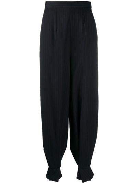 Spodni wełniany niebieski spodnie wysoki wzrost Enfold