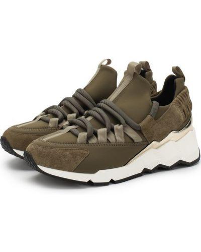 Кроссовки на шнуровке комбинированные Pierre Hardy