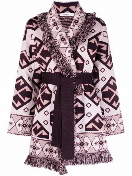 Шерстяное пальто - розовое Charlott