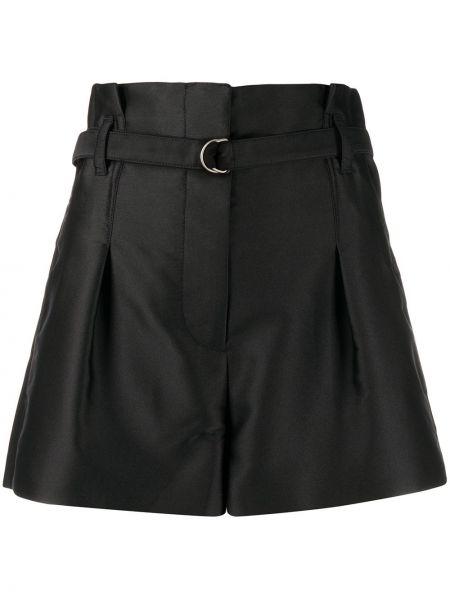 Однобортные теплые черные шорты на пуговицах 3.1 Phillip Lim