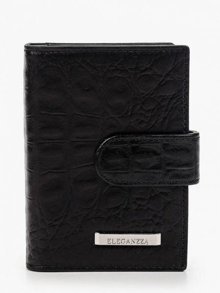 Черный кошелек из натуральной кожи Eleganzza