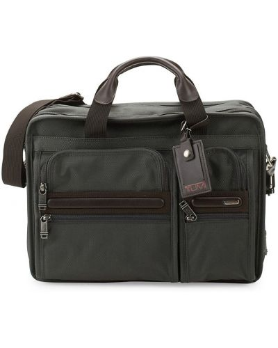 Нейлоновый коричневый портфель с карманами Tumi