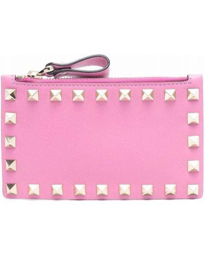Кожаный кошелек - розовый Valentino Garavani