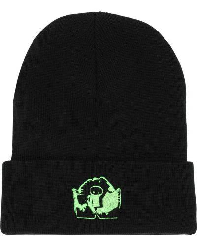 Czarny czapka beanie Psychworld