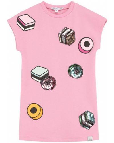 Платье мини розовое из вискозы Marc Jacobs