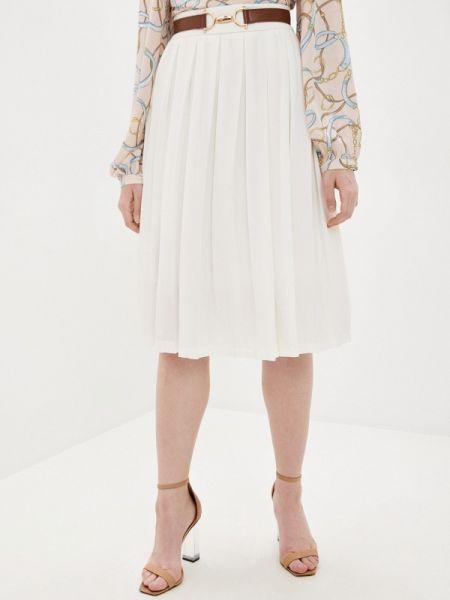 Плиссированная юбка белая осенняя Sweewe