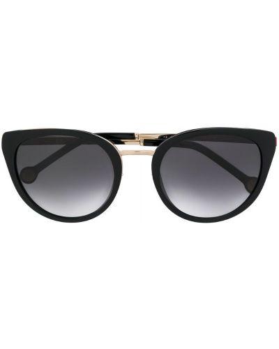 Прямые муслиновые черные солнцезащитные очки Ch Carolina Herrera
