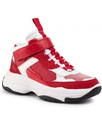 Czerwone tenisówki Calvin Klein Jeans