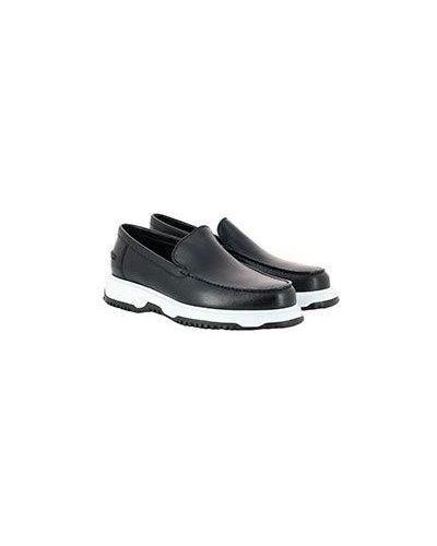Черные кожаные ботинки A.testoni