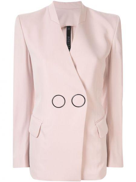 Розовая длинная куртка Petar Petrov