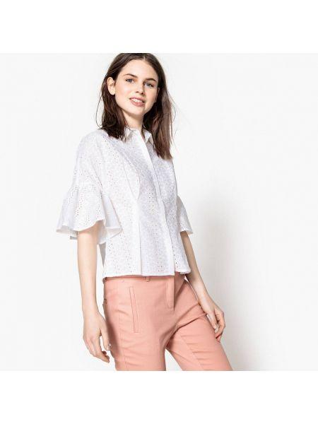 Рубашка с коротким рукавом приталенная хлопковая Mademoiselle R