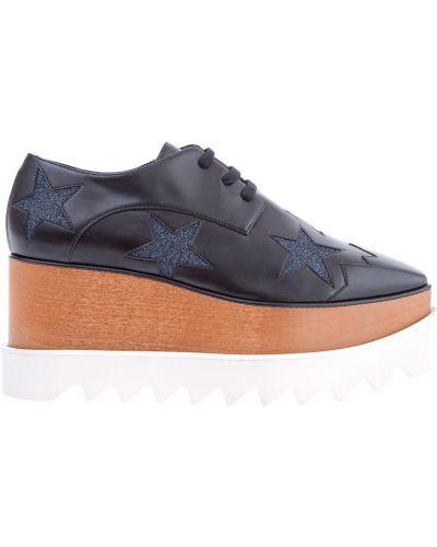 Ботинки на платформе кожаные с узором Stella Mccartney