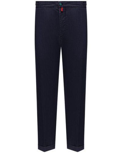 Хлопковые синие джинсы Kiton