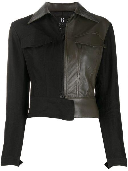Черная короткая куртка на молнии с воротником Yohji Yamamoto