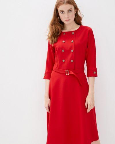 Прямое красное платье Mari Vera