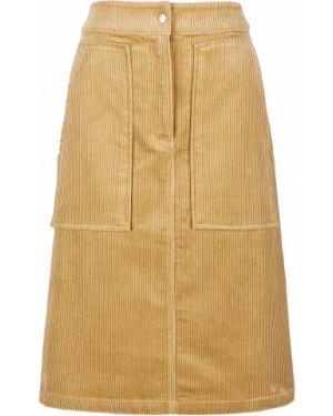Юбка вельветовая с карманами Calvin Klein Jeans