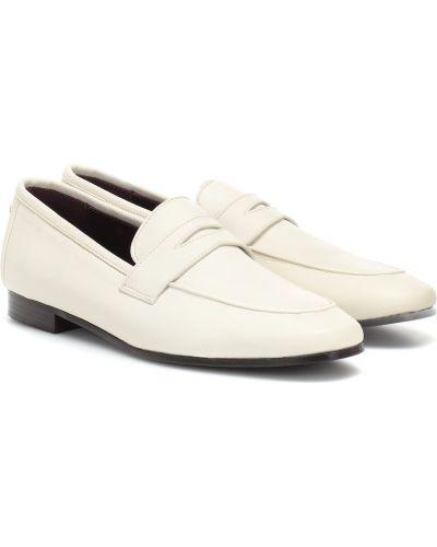 Klasyczne białe loafers skorzane Bougeotte