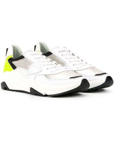 Белые нейлоновые кроссовки на шнуровке с нашивками Philippe Model Kids