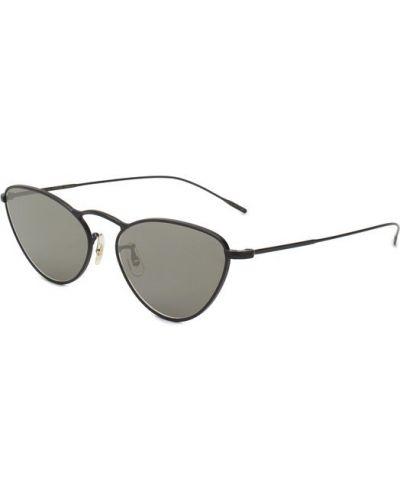 Солнцезащитные очки металлические силиконовые Oliver Peoples