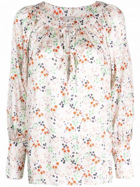Шелковая белая блузка на пуговицах Lautre Chose