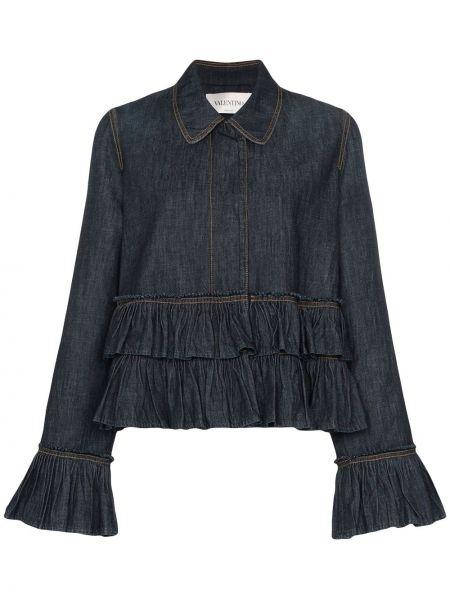 Джинсовая куртка на пуговицах итальянский Valentino