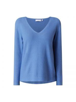 Sweter z dekoltem w serek - niebieski Rich & Royal
