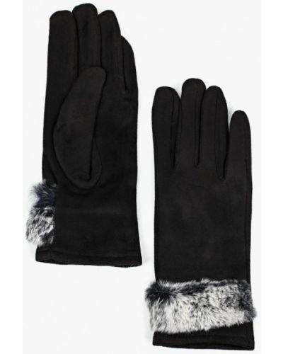 Черные перчатки текстильные Zarina