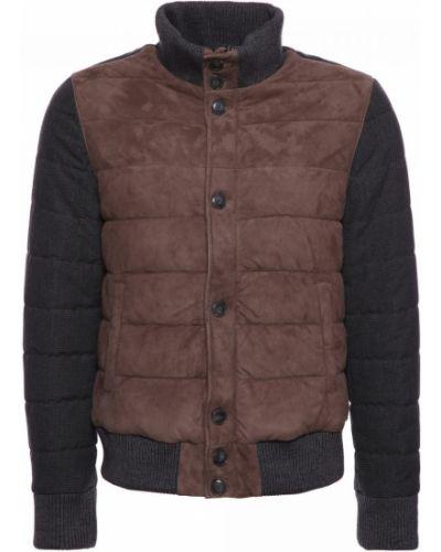 Коричневая кожаная куртка Principe Di Bologna
