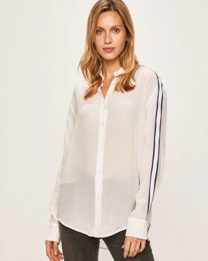Biała koszula elegancka z wiskozy Calvin Klein Jeans