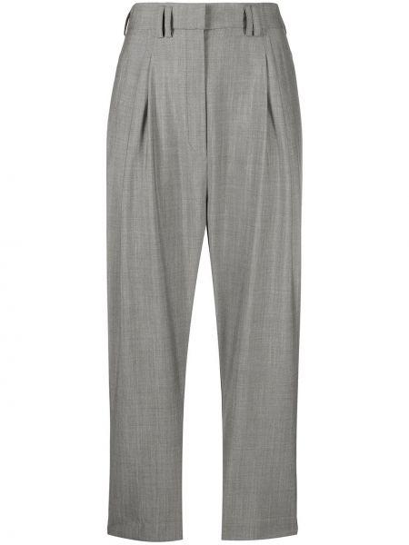 Шерстяные серые брюки с карманами Christian Wijnants